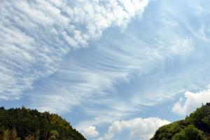 今日の雲は芸術的でした!